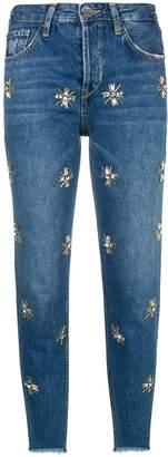 Liu Jo embellished cropped jeans