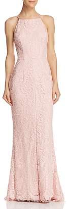 Aqua Floral Lace Gown - 100% Exclusive
