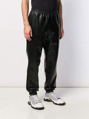 Burberry elasticated hem leather trousers