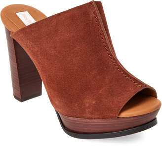See by Chloe Brown Split Seam Platform Mules