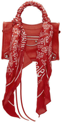 Balenciaga Red Mini City Scarf Bag