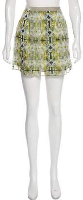 Theyskens' Theory Silk Printed Mini Skirt