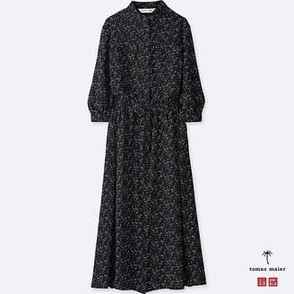 Uniqlo Women's Chiffon Printed Long-sleeve Dress