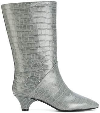 Marni croc embossed boots
