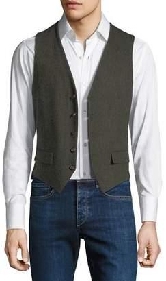 Stefano Ricci Men's Gilet Vest with Leather Details