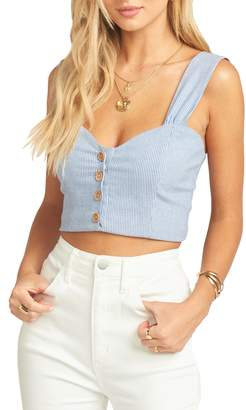 Show Me Your Mumu Debbie Gingham Stretch Cotton Halter Top