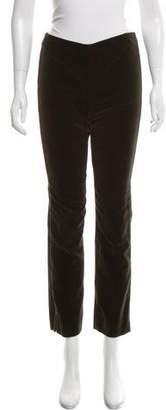 Ralph Lauren Mid-Rise Velvet Pants