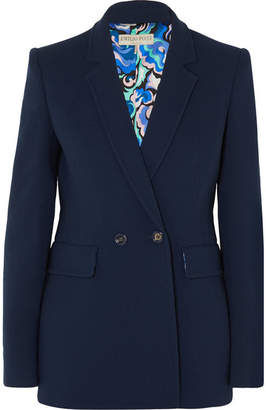 Emilio Pucci Double-breasted Wool-blend Blazer - Navy