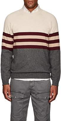 Brunello Cucinelli Men's Colorblocked Cashmere Sweater