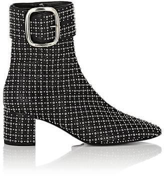 4d23b7922cb Saint Laurent Women's Joplin Studded Leather Ankle Boots - Black