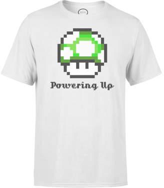 Nintendo Super Mario Powering Up Men's White T-Shirt