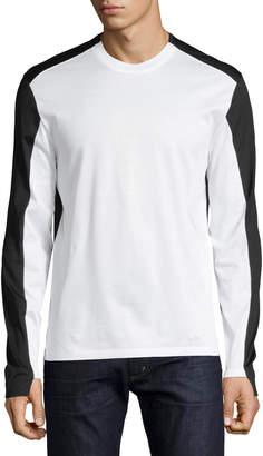 Alexander McQueen Colorblock Long-Sleeve T-Shirt