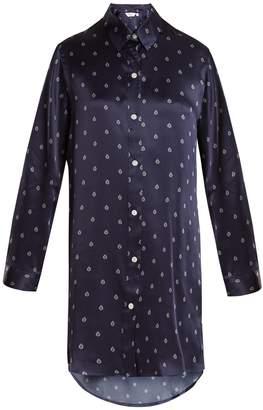 Derek Rose Brindisi 19 silk-satin pyjama shirtdress