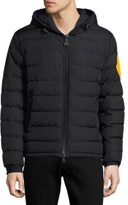 Moncler Dinard Hooded Puffer Jacket, Black $1,355 thestylecure.com