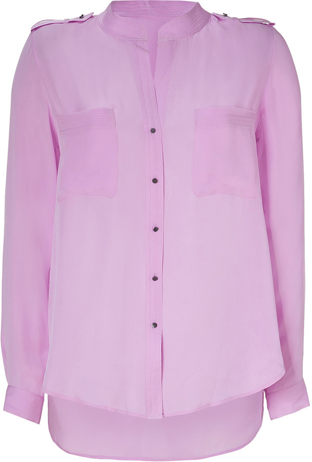 L'Agence LAgence Orchid Silk Blouse