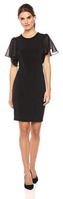 Calvin Klein Women's S/s Flutter Sleeve Dress