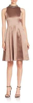 Kay Unger Beaded Fit-And-Flare Dress