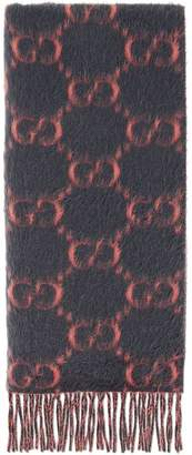 Gucci GG alpaca wool scarf
