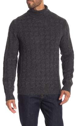 LOFT 604 Wave Turtleneck Wool Blend Sweater