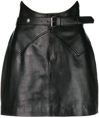 Saint Laurent belted mini skirt
