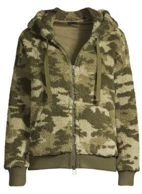 ATM Anthony Thomas Melillo Sherpa Zip-Up Hoodie
