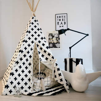 Wildfire Teepees Children's Play Teepee In Monochrome Cross Print