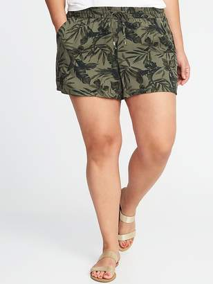 """Old Navy Mid-Rise Plus-Size Printed Soft Shorts (5"""")"""