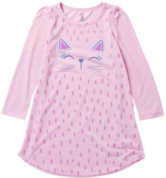 Petit Lem Kitten Girl Nightgown (Toddler & Little Girls)