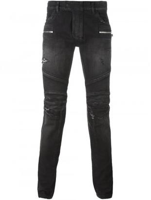 Balmain biker jeans $1,700 thestylecure.com