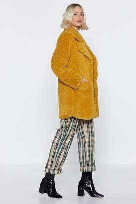 Nasty Gal Fur All We Know Faux Fur Coat