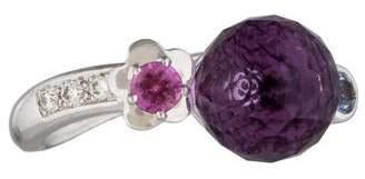 Chanel 18K Multi-Gem & Diamond Ring