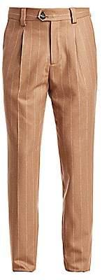 Brunello Cucinelli Men's Wool Pinstripe Pants