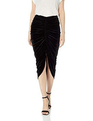 Bailey 44 Women's Any Seven Rouched Front Stretch Velvet Skirt