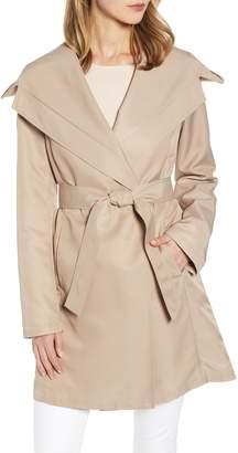 Sam Edelman Hooded Wrap Trench Coat