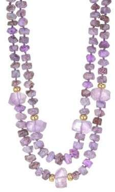 Nest Purple Agate and Amethyst Necklace