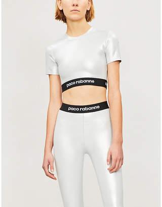 Paco Rabanne Metallic-coated stretch-jersey T-shirt
