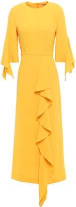 GOEN.J Ruffled Draped Crepe Midi Dress