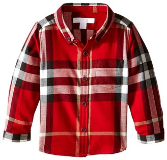 Burberry Kids - Fred with Pockets Long Sleeve Boy's Long Sleeve Button Up $120 thestylecure.com