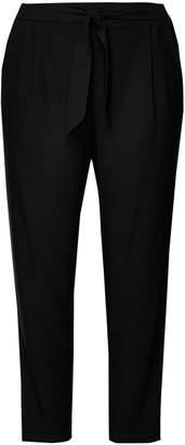Next Womens Evans Black Satin Tapered Trouser