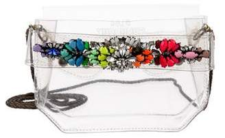 Shourouk Embellished PVC Bag