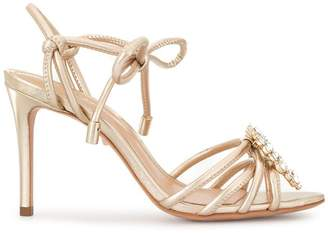 Schutz embellished ankle wrap sandals