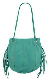 As Is Kelsi Dagger Leather Charlie Drawstring Bag w/Fringe $89.15 thestylecure.com