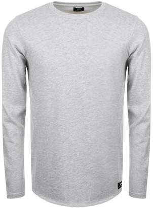 Edwin Long Sleeve Terry T Shirt Grey