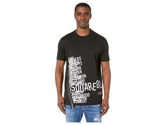 DSQUARED2 Cool Fit Asymmetric Zip T-Shirt