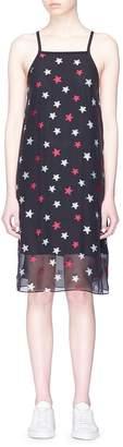 Rag & Bone 'Sonny' tie back star burnout crepe tank dress