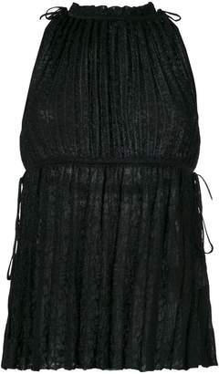 M Missoni pleated sleeveless blouse