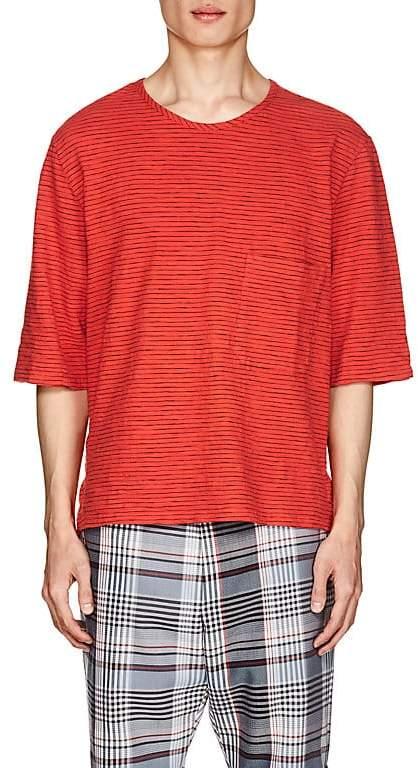 Barena Venezia Men's Thin-Striped Cotton Boxy T-Shirt