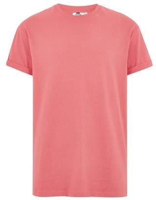 Topman Mens Pink Oversized Roller T-Shirt