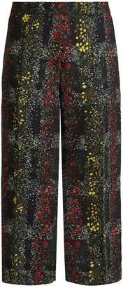 Marco De Vincenzo Floral-print wide-leg trousers