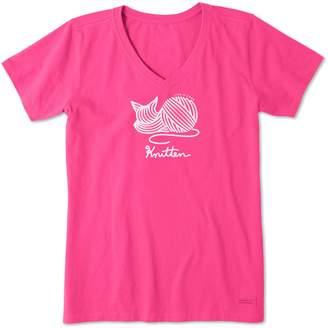 Life is Good Kitten Crusher V-Neck Shirt